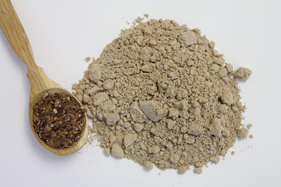 Leinmehl, bio, braun, gold