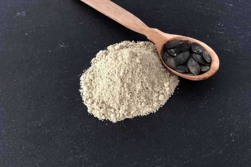 Kürbisprotein, geröstet, bio, kürbiskernprotein